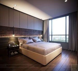 thiết kế nội thất liền kề - phòng ngủ master 1