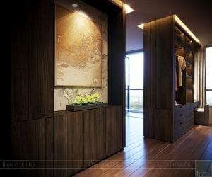 thiết kế nội thất liền kề - phòng thay đồ 6