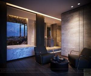 thiết kế nội thất liền kề - phòng thư giãn 2