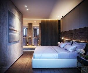 thiết kế nội thất liền kề - phòng ngủ master 3