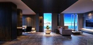 thiết kế nội thất liền kề 2 căn hộ landmark 1 2