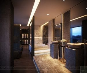 thiết kế nội thất liền kề - phòng tắm 1