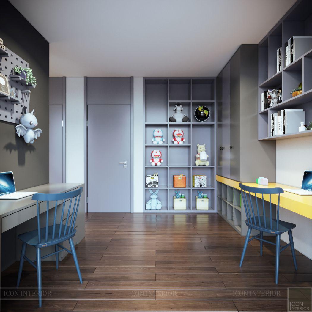 thiết kế nội thất phòng học tập