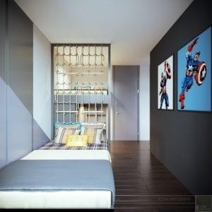 thiết kế nội thất liền kề - phòng ngủ bé 4
