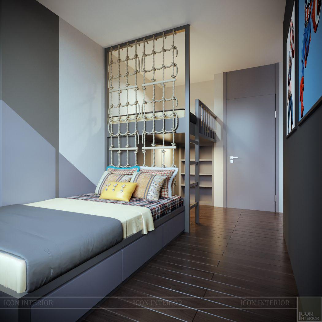 thiết kế phòng ngủ bé liền kề
