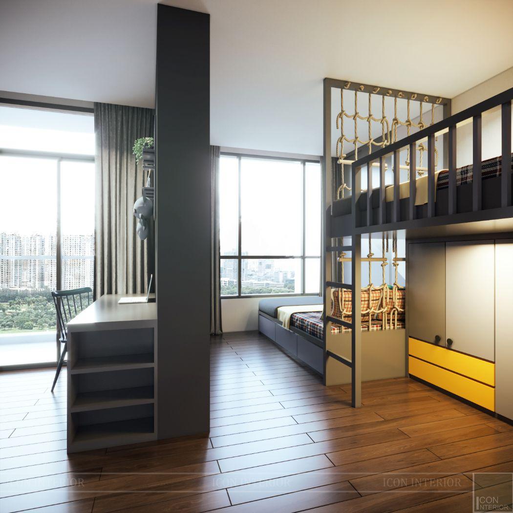thiết kế nội thất giường tầng