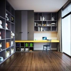 thiết kế nội thất liền kề - phòng ngủ bé 6