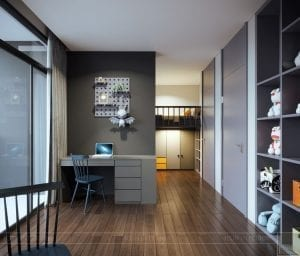 thiết kế nội thất liền kề - phòng ngủ bé 5