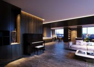 thiết kế nội thất liền kề 2 căn hộ landmark 1 6