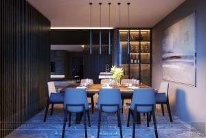 thiết kế nội thất liền kề 2 căn hộ landmark 1 8