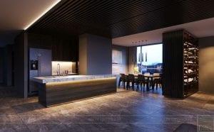thiết kế nội thất liền kề 2 căn hộ landmark 1 7