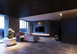 thiết kế nội thất liền kề 2 căn hộ landmark 1 3