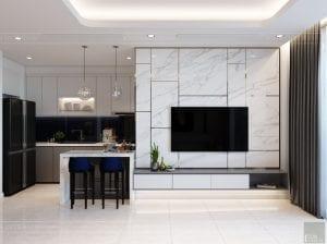 nội thất nhà ở theo phong cách hiện đại - phòng khách bếp 7