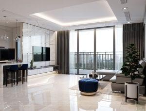 nội thất nhà ở theo phong cách hiện đại - phòng khách bếp 8