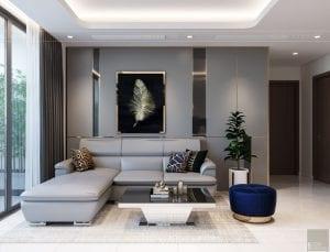 nội thất nhà ở theo phong cách hiện đại - phòng khách bếp 4