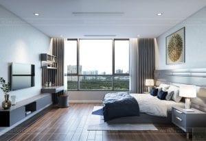 nội thất nhà ở theo phong cách hiện đại - phòng ngủ master 1