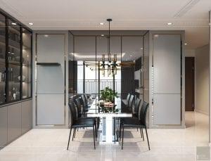 nội thất nhà ở theo phong cách hiện đại - phòng khách bếp 10