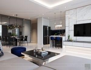 nội thất nhà ở theo phong cách hiện đại - phòng khách bếp 9