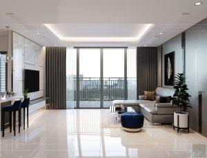 nội thất nhà ở theo phong cách hiện đại - phòng khách bếp 5