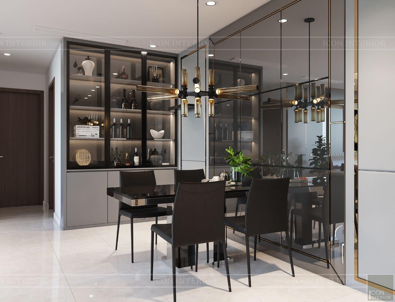 nội thất nhà ở theo phong cách hiện đại - phòng ăn