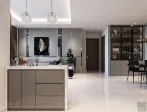nội thất nhà ở theo phong cách hiện đại - phòng khách bếp 3