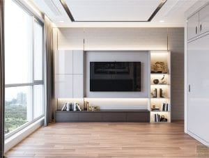 thiết kế nội thất tân cổ điển đẹp - phòng ngủ master 3