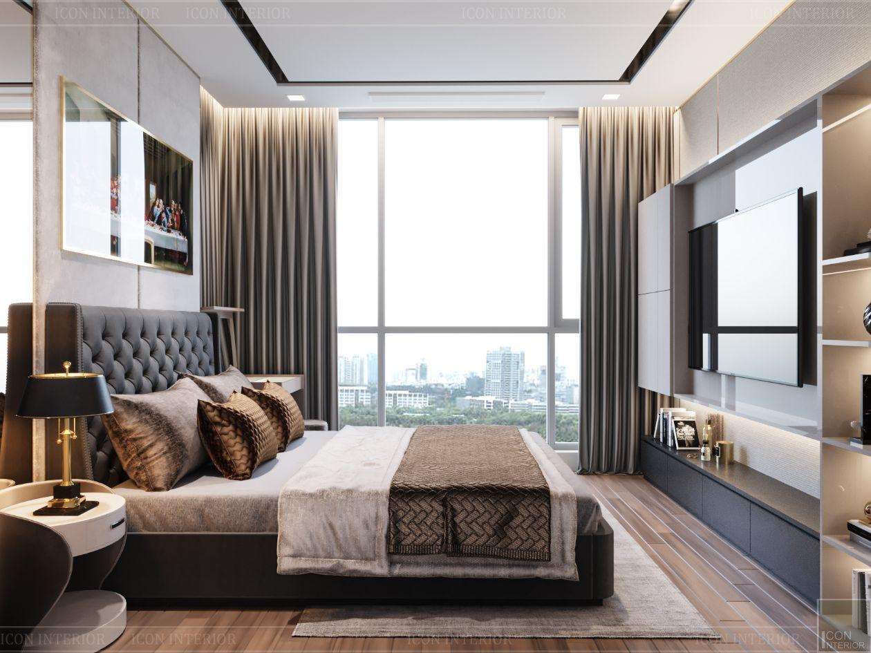 thiết kế nội thất tân cổ điển đẹp - phòng ngủ master 5