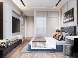 thiết kế nội thất tân cổ điển đẹp - phòng ngủ master 6