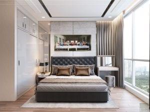 thiết kế nội thất tân cổ điển đẹp - phòng ngủ master 4