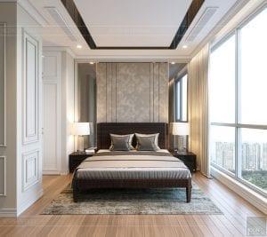 thiết kế nội thất tân cổ điển đẹp - phòng ngủ nhỏ 2
