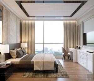 thiết kế nội thất tân cổ điển đẹp - phòng ngủ nhỏ 1