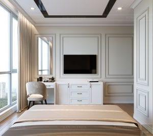 thiết kế nội thất tân cổ điển đẹp - phòng ngủ nhỏ 4