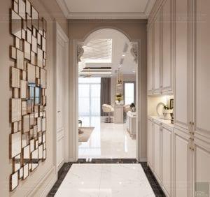thiết kế nội thất tân cổ điển đẹp - phòng khách bếp 1