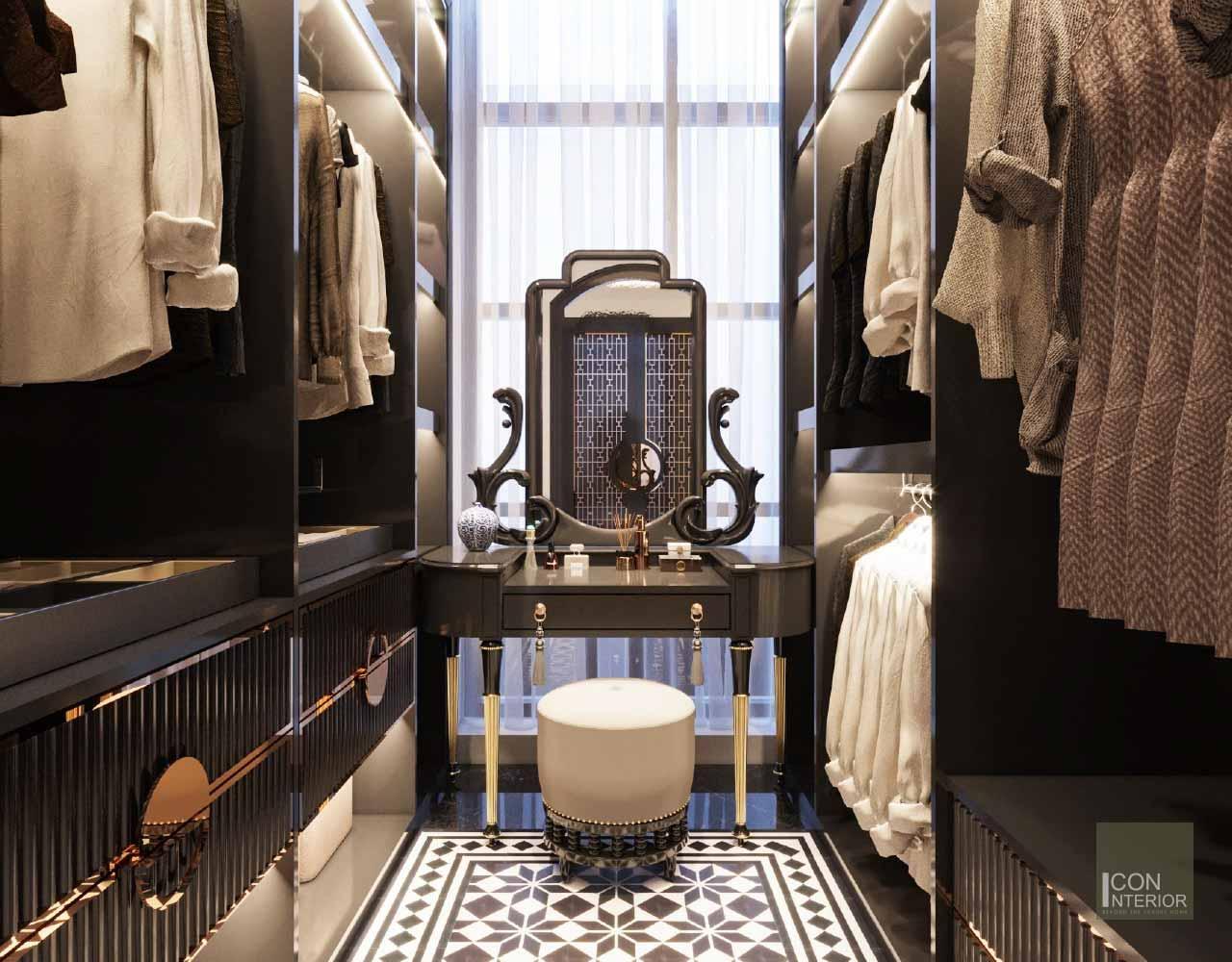 tủ quần áo phong cách indochine