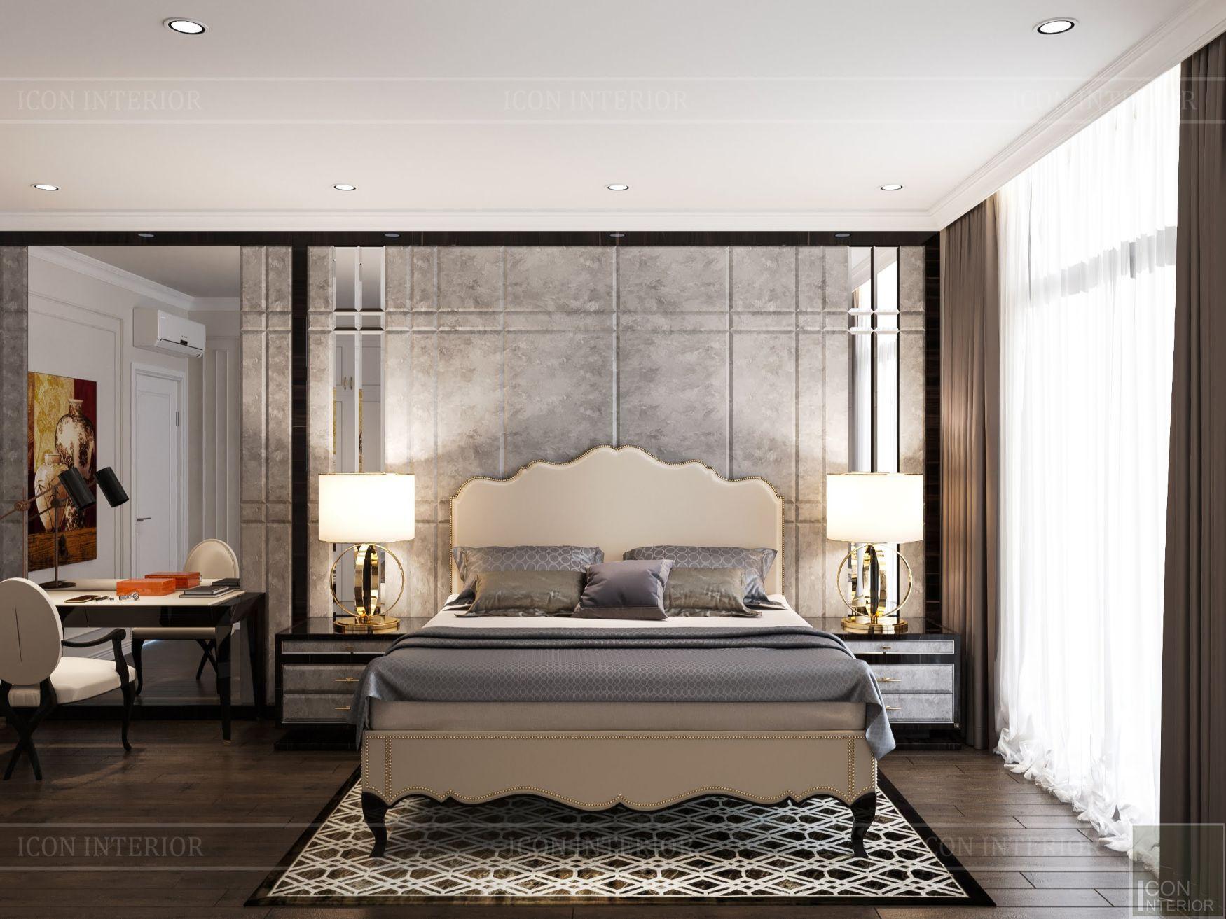 mẫu thiết kế nội thất biệt thự - phòng ngủ master 2