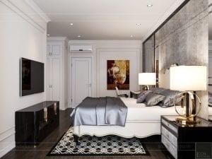 mẫu thiết kế nội thất biệt thự - phòng ngủ 2