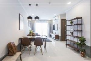 thi công hoàn thiện nội thất phòng khách bếp 1