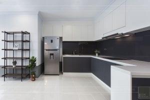 thi công hoàn thiện nội thất phòng khách bếp 2