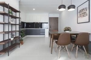 thi công hoàn thiện nội thất phòng khách bếp 8
