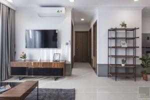 thi công hoàn thiện nội thất phòng khách bếp 7