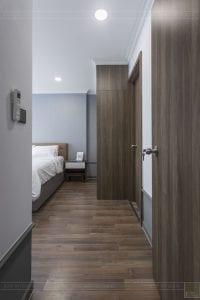 thi công hoàn thiện nội thất phòng ngủ master 1