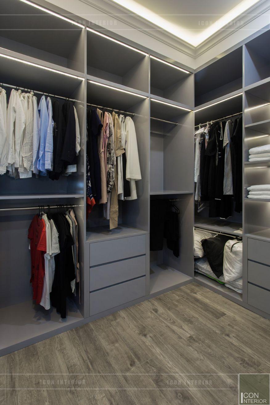 thi công nội thất chung cư 3 phòng ngủ - phòng thay đồ 1