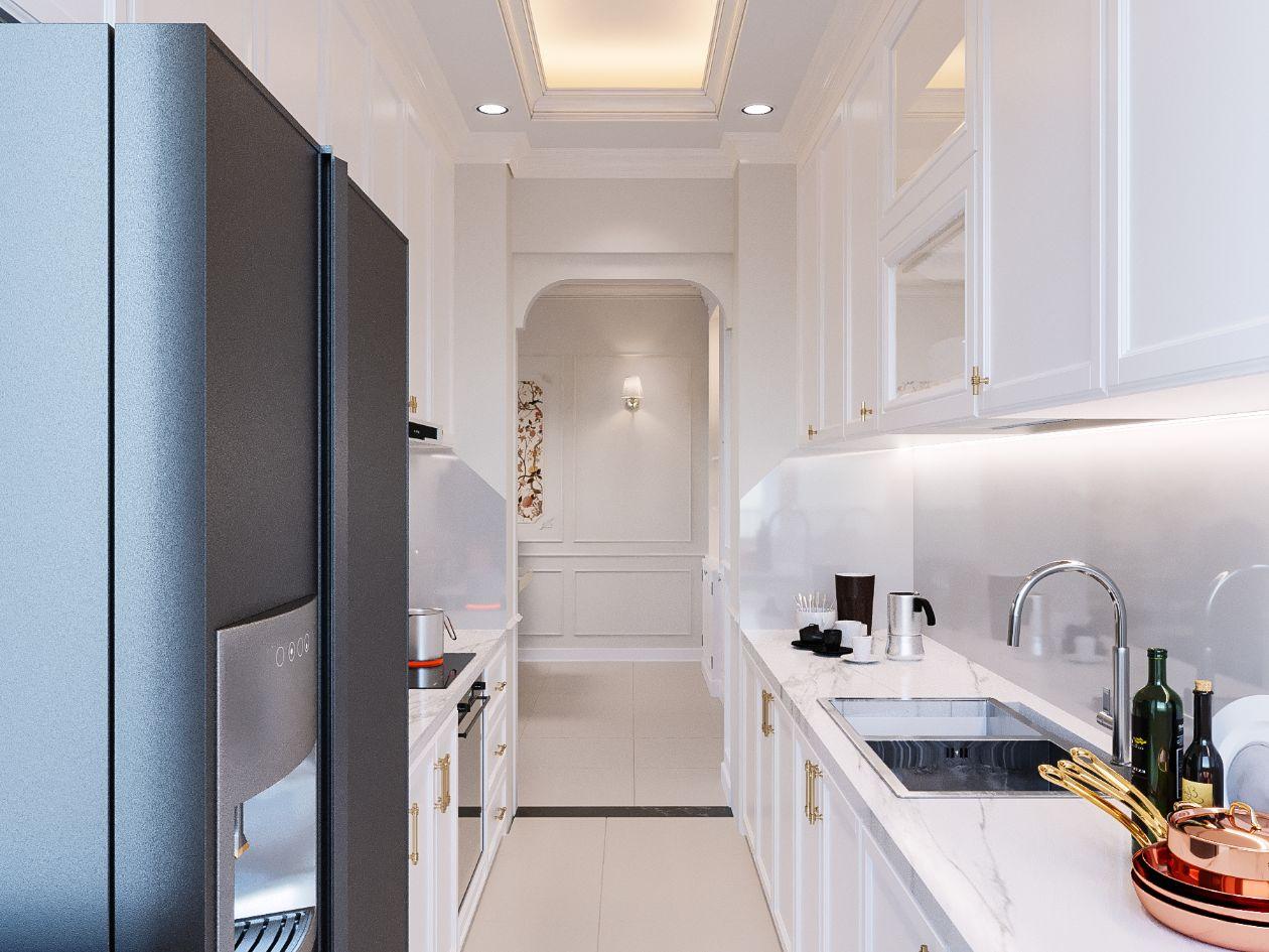thiết kế căn hộ 2 phòng ngủ - phòng bếp 2