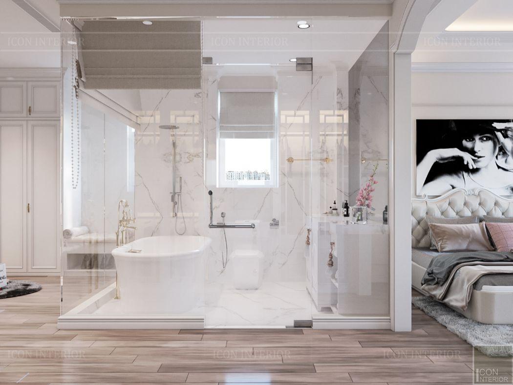 thiết kế căn hộ 2 phòng ngủ - phòng tắm
