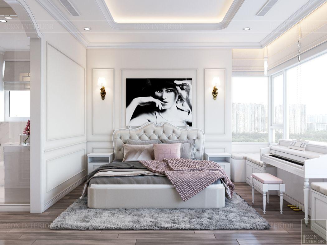 thiết kế căn hộ 2 phòng ngủ - phòng ngủ 1