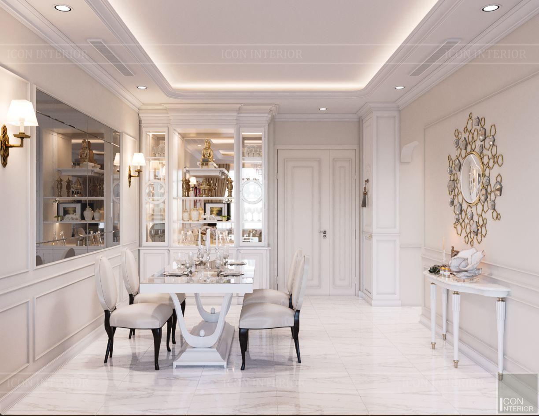 thiết kế căn hộ 2 phòng ngủ - phòng ăn