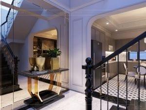 thiết kế nội thất biệt thự Cityland Park Hills tầng 2 1