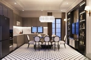 thiết kế nội thất biệt thự Cityland Park Hills tầng 2 2