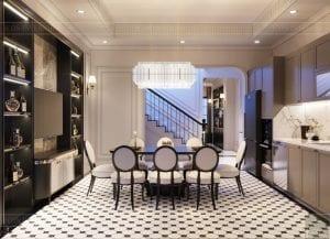 thiết kế nội thất biệt thự Cityland Park Hills tầng 2 4