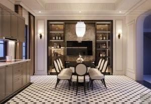 thiết kế nội thất biệt thự Cityland Park Hills tầng 2 5